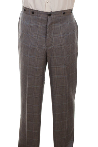 Wahmaker Mens Multi-Color Wool Blend Plaid Town Trousers