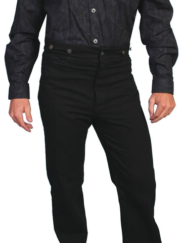 Scully Wahmaker Mens Black 100% Cotton USA Big Saddle Pants