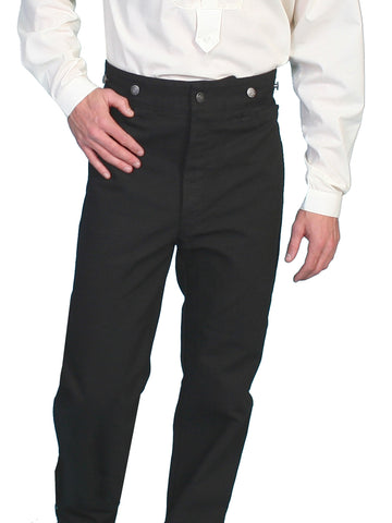 Scully Wahmaker Mens Black 100% Cotton USA Big Duckin Frontier Pants