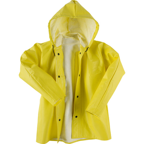 Neese Jacket with Attached Hood Yellow Ribbed PVC Dura Quilt 56