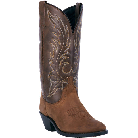 Laredo Womens Kadi Cowboy Boots Leather Brown/Tan