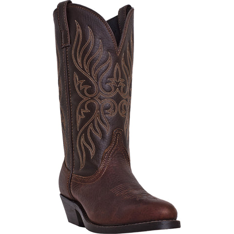 Laredo Womens Copper Kettle Leather Kelli R Toe Stitch Cowboy Boots
