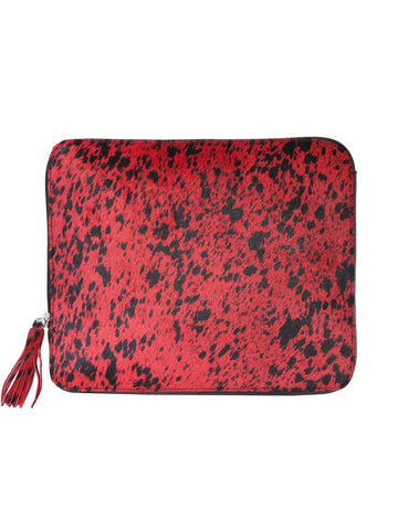Scully Accessories Red Hair On Leather Zip Around iPad Cover