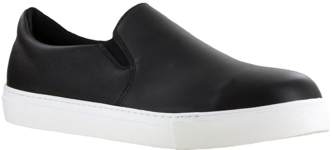 Mellow Walk Owen Mens Black Leather Slip-On Shoes