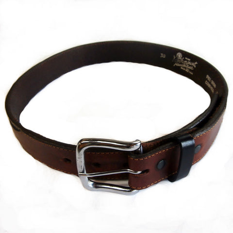 Rockmount Mens Tan Leather Black Billets Western Belt