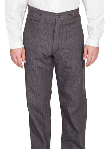 Scully Wahmaker Mens Charcoal 100% Cotton USA 36in Inseam Classic Pants