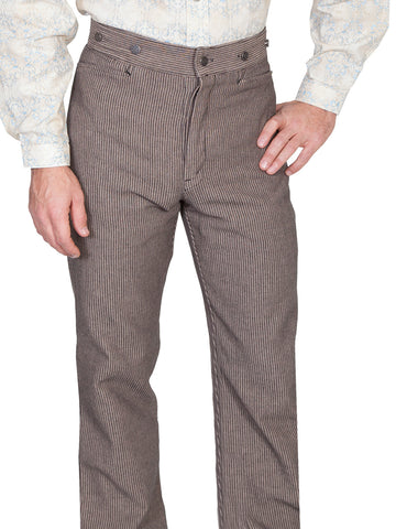 Scully Mens Wahmaker Classic Button Fly Pants Taupe 100% Cotton