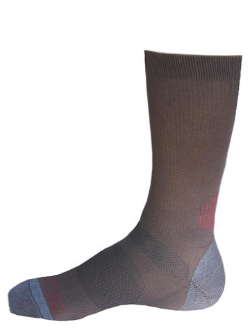 Outback Trading Co. Mens Work Sock Brown Cotton Blend Dry-Zone Ribbed