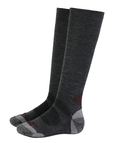 Outback Trading Co River Hills Sock Unisex Heathered Brown Wool Blend
