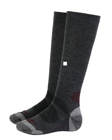 Outback Trading Co River Hills Sock Unisex Heathered Gray Wool Blend Cushion