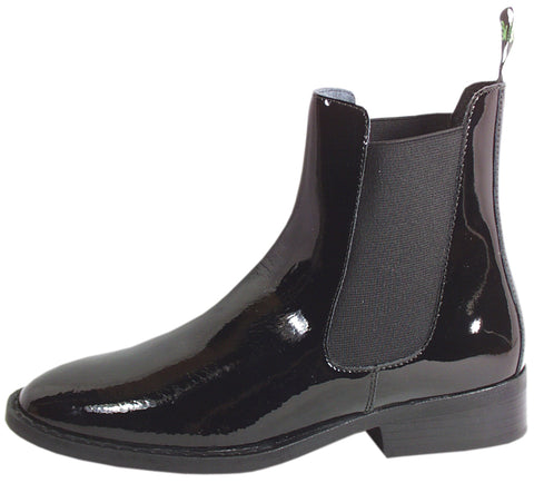 Smoky Mountain Boots Womens Jodhpur Black Patent Leather Elastic Gore