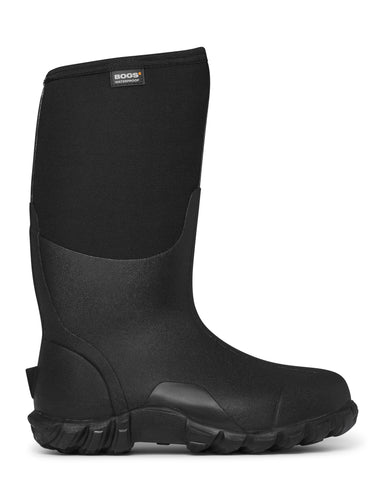 Bogs Mens Black Rubber/Nylon Classic High Insulated Winter Boots