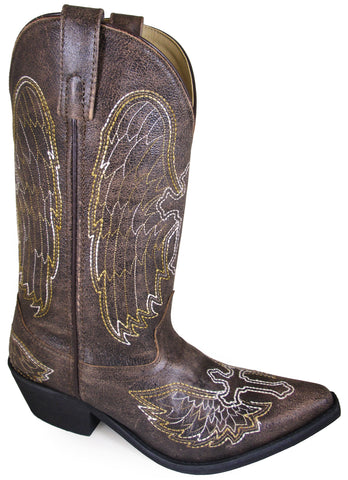 Smoky Mountain Womens Guardian Vintage Brown Leather Cowboy Boots