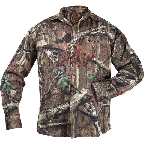 Rocky Arid Light Mens MOBU Polyester Hunting Light Button Shirt L/S