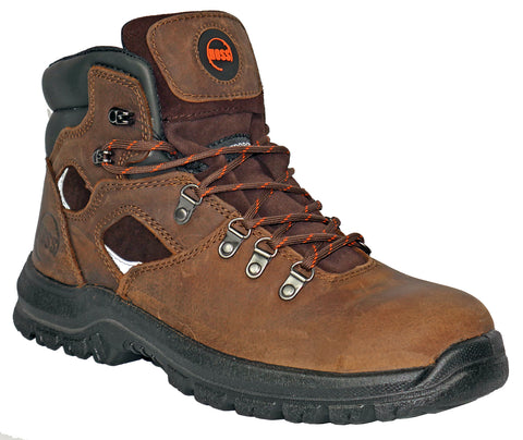 Hoss Boots Mens Brown Leather Adam 6in ST Work Boots