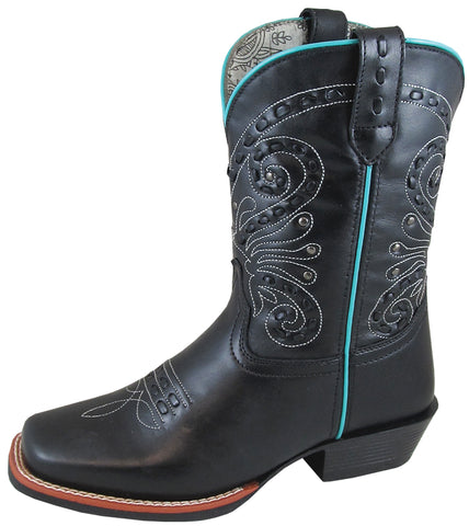 Smoky Mountain Womens Shelby Black Leather Cowboy Boots