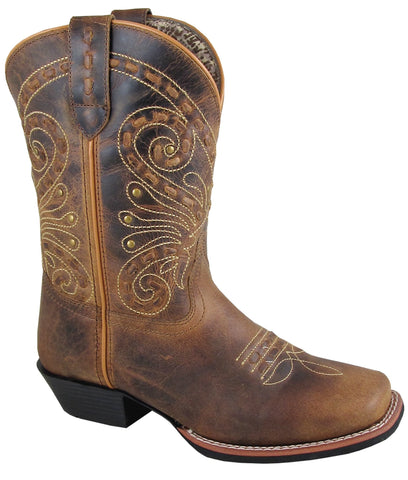 Smoky Mountain Womens Shelby Brown Leather Cowboy Boots 9 M