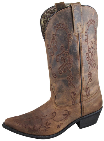 Smoky Mountain Womens Jolene Brown Leather Cowboy Boots