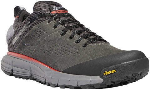 Danner Trail 2650 Mens Dark Gray/Brick Red Suede 3in GTX Hiking Shoes