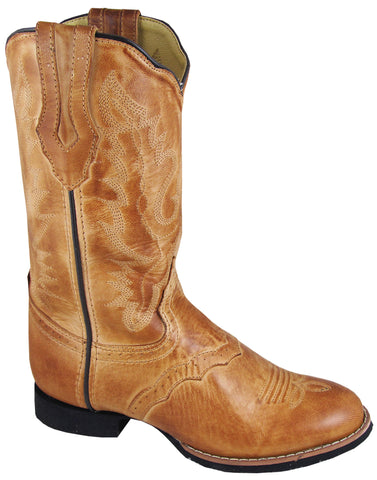 Smoky Mountain Boots Womens Showdown Bomber Tan Leather Western