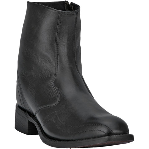 Laredo Mens Hoxie Ankle Boots Leather Black