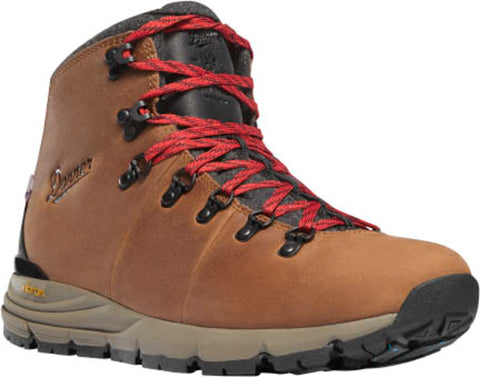Danner Mountain 600 Mens Brown/Red Leather 200G WP Hiking Boots