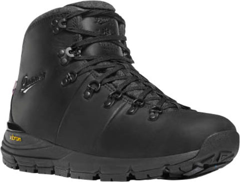 Danner Mountain 600 Mens Jet Black Leather 200G WP Hiking Boots