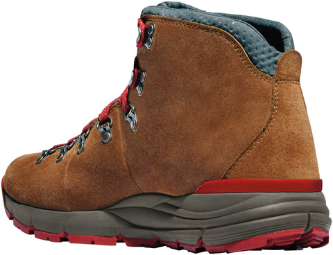 Danner Mountain 600 Womens Brown/Red Suede 4.5in WP Hiking Boots
