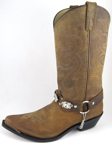 Smoky Mountain Boots Womens Arroyo Grande Brown Oil Leather Harness