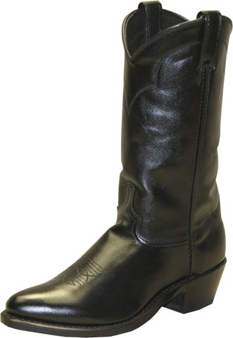 Abilene Mens Black Leather 12in Cowhide Western Cowboy Boots