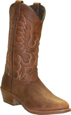 Abilene Mens Tan Leather 12in Bison Cowboy Boots