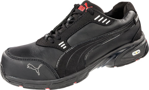 Puma Safety Black Mens Leather Velocity Low SD WRU CT Oxfords Work Shoes