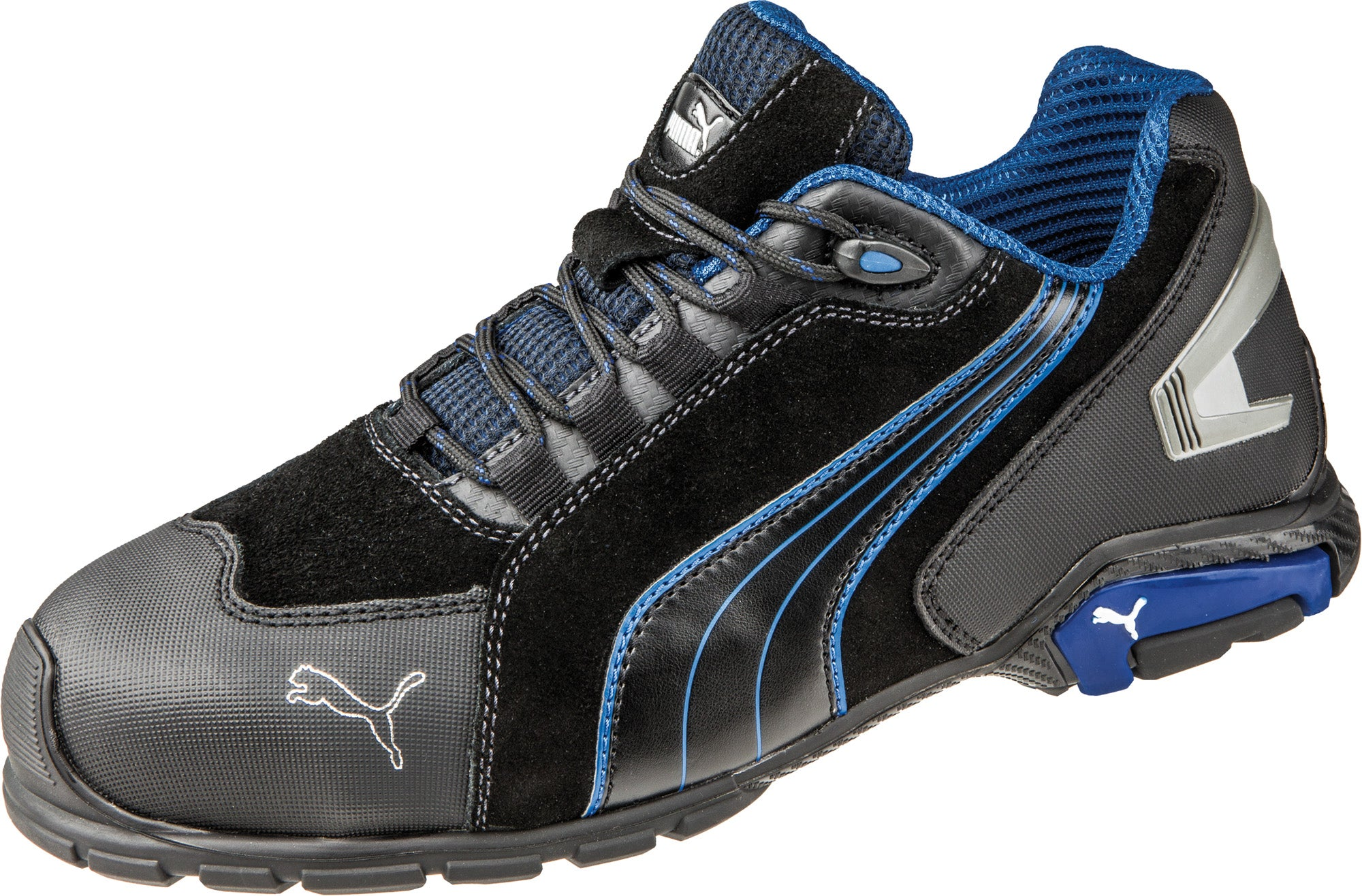 ee96d1b949c ... Puma Safety Black Mens Leather Rio Low ASTM SD AT Oxfords Work Shoes ...