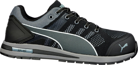 Puma Safety Black Mens Textile Elevate Low CT Oxford Work Shoes