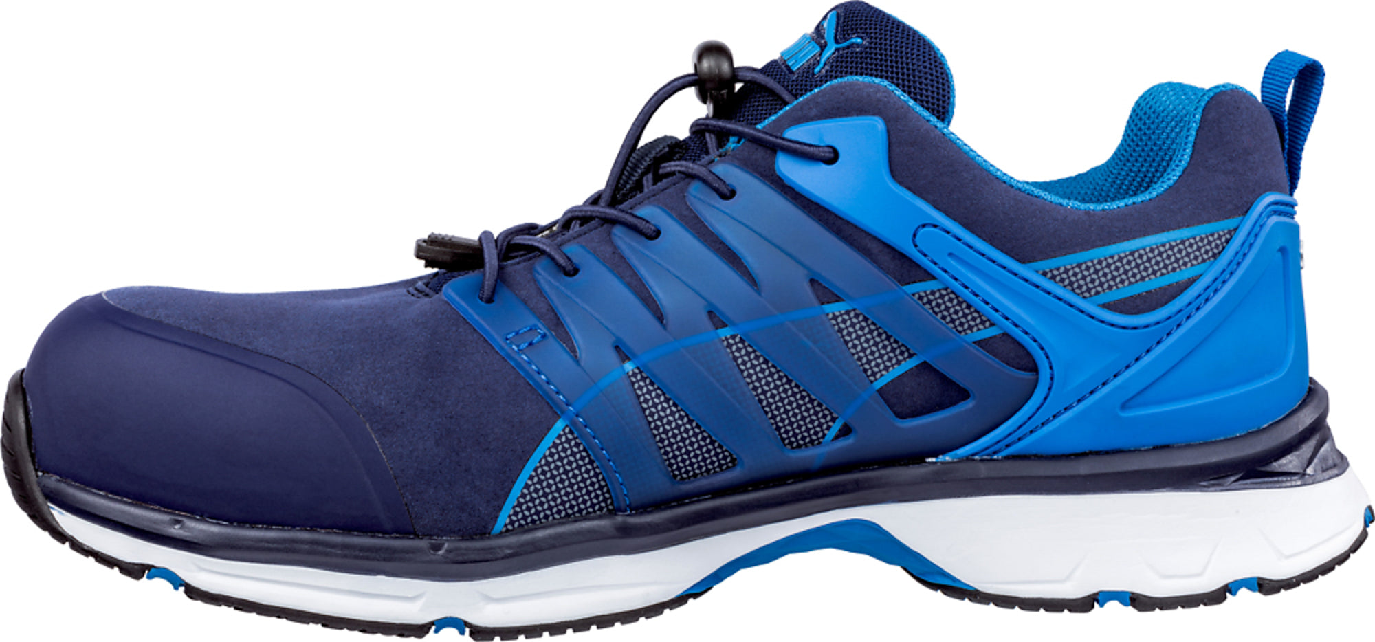 075f58d30dd4e7 ... Puma Safety Blue Mens Microfiber Velocity 2.0 Low SD CT Oxford Work  Shoes ...