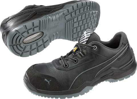 Puma Safety Black Mens Leather Argon Low SD ASTM CT Oxfords Work Shoes