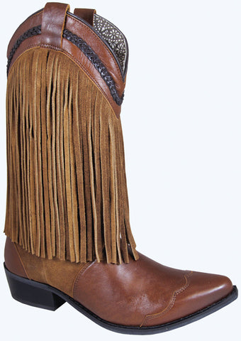 Smoky Mountain Boots Womens Rosie Brown Leather Fringe