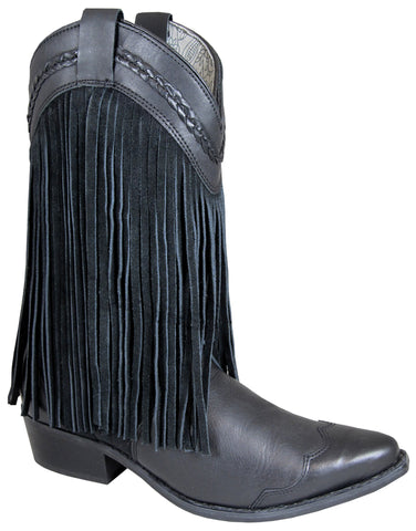 Smoky Mountain Boots Womens Rosie Black Leather Fringe