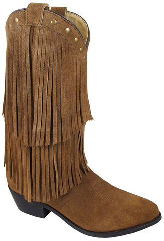 Smoky Mountain Boots Womens Wisteria Brown Leather Fringe 8.5 M