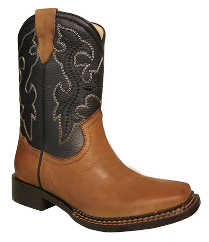 Tecs Childrens Girls Blue 8in Western Pull On Cowboy Boots PU