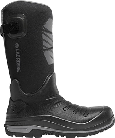 Lacrosse Aero Insulator Mens Black PU 14in Fleece Snow Boots