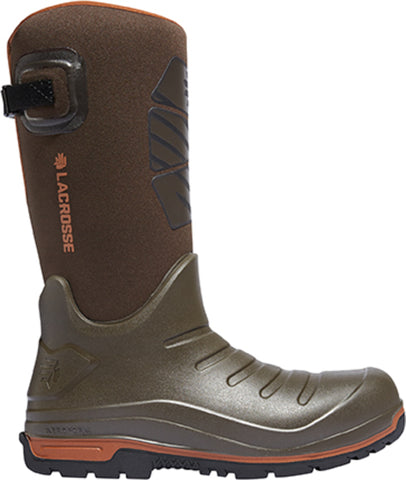 Lacrosse Aero Insulator Mens Brown PU 14in Fleece Snow Boots