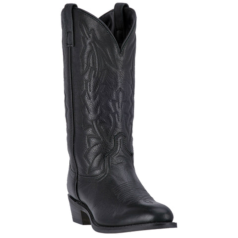 Laredo Mens Black Cowboy Boots Leather Snip Toe