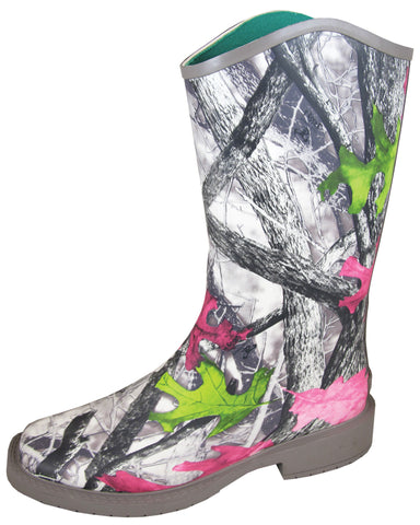 Smoky Mountain Boots Womens Oconee Pink Camo Rubber