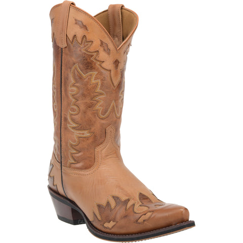 Laredo Mens Antique Tan Nash Cowboy Boots Leather