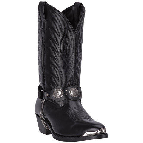 Laredo Mens Black Leather Tallahassee Harness J Toe Cowboy Boots