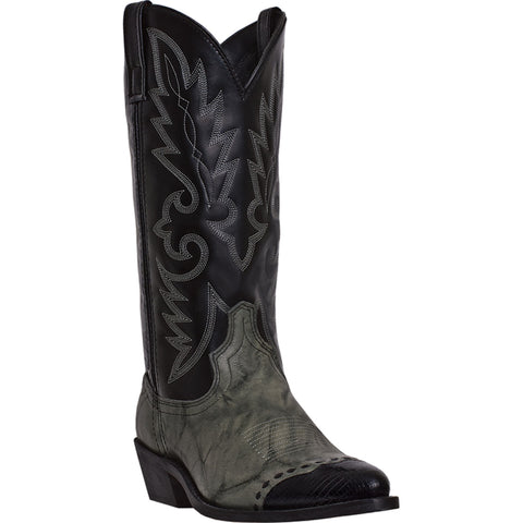 Laredo Mens Gray Marble Leather Flagstaff Lizard Print 13in Cowboy Boots