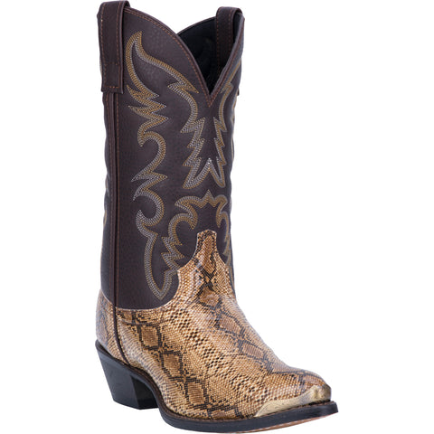 Laredo Mens Monty Cowboy Boots Faux Leather Multi Tan/Brown
