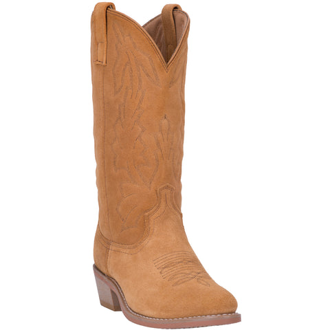 Laredo Mens Natural Cowboy Boots Leather R Toe