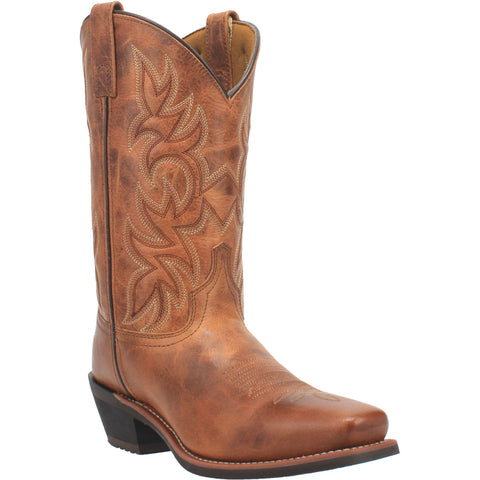 Laredo Mens Beige Goat Leather Piomosa 12in Square Toe Cowboy Boots
